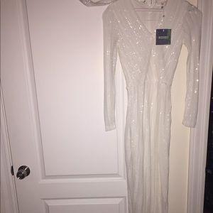 Miss Guided Premium sequins wrap maxi dress